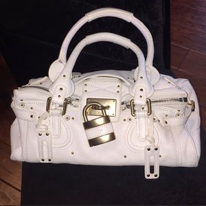 Chloe White Paddington Satchel Purse